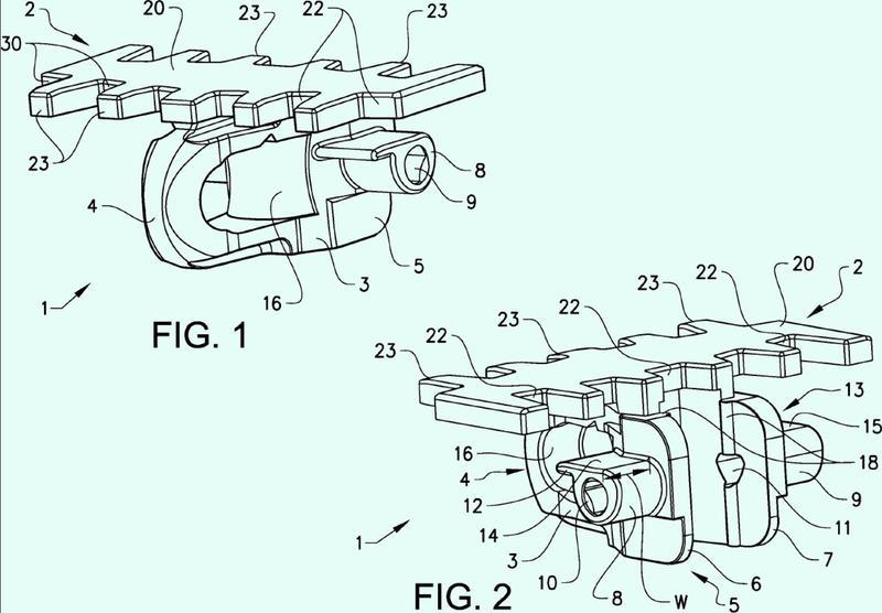 Eslabón de cadena transportadora, cadena transportadora, rueda motriz para una cadena transportadora y sistema que comprende esta rueda motriz.