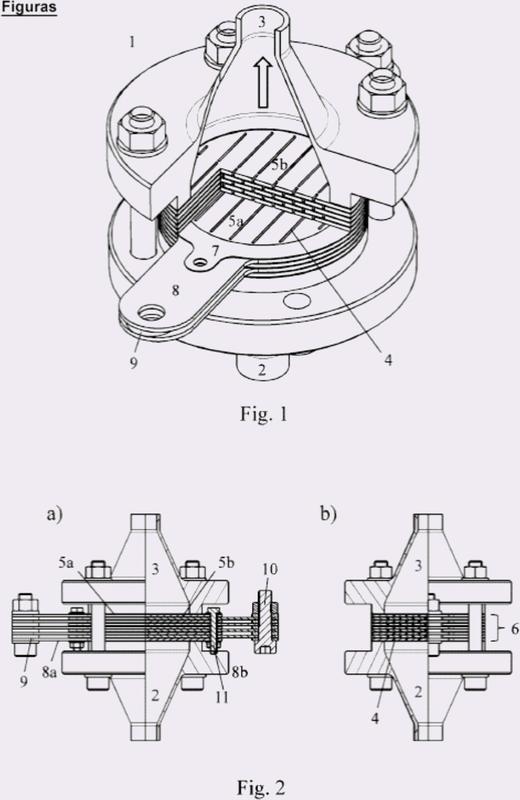 Célula de microelectrodos de lámina así como su uso.