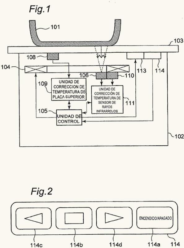 Dispositivo de cocción de calentamiento por inducción.