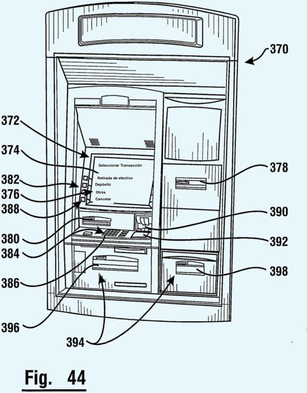 Aparato de cierre de bloqueo para máquina bancaria automática.