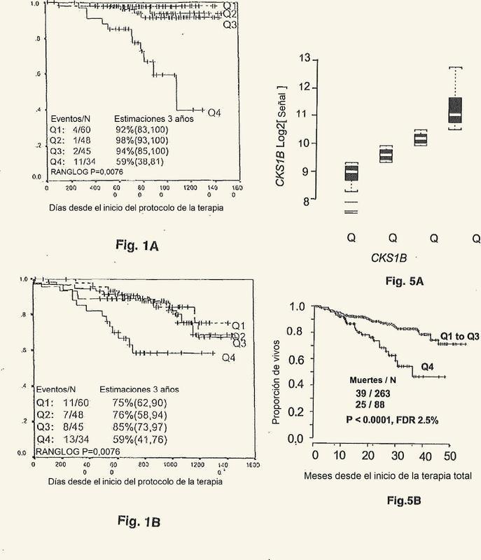 Uso de perfiles de expresión génica para predecir la supervivencia en un paciente con cáncer.