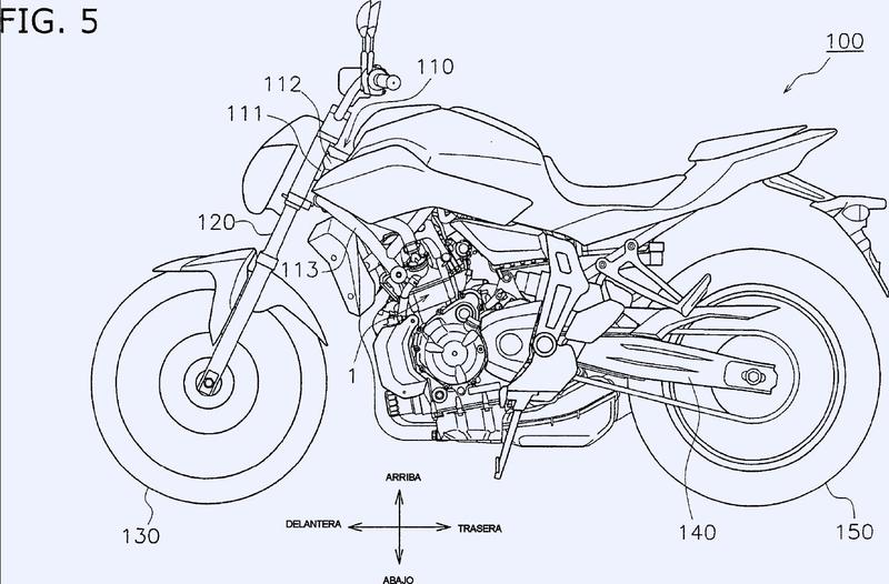Motor y vehículo del tipo de montar a horcajadas.