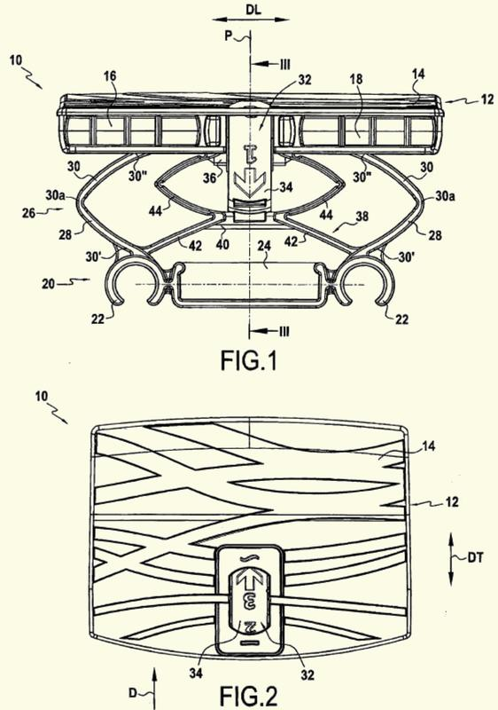 Dispositivo de suspensión para un somier con rigidez regulable.