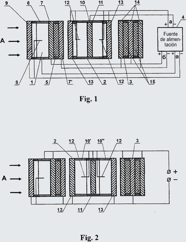 Dispositivo de inactivación y de filtración fina de virus y microorganismos en un flujo de aire.