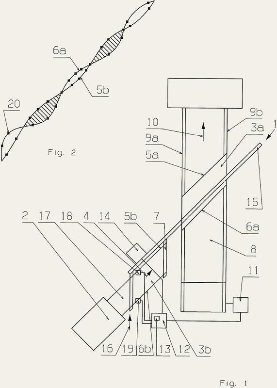 Procedimiento y dispositivo para producir un tejido no tejido.