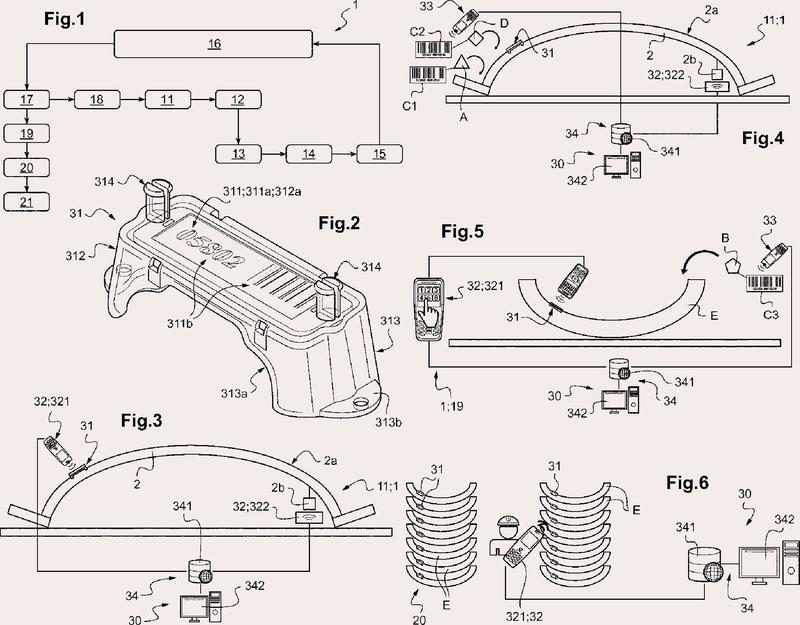 Procedimiento e instalación para la fabricación de un elemento prefabricado de hormigón, con trazabilidad de dicho elemento prefabricado.