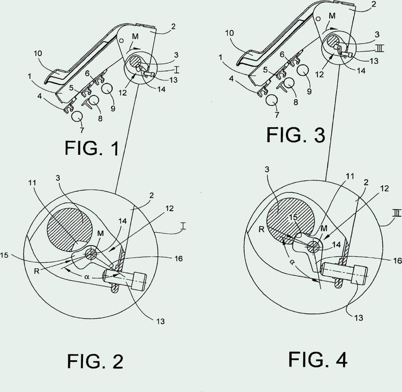 Dispositivo para la fijación de un apoyo de un tren de estiraje.