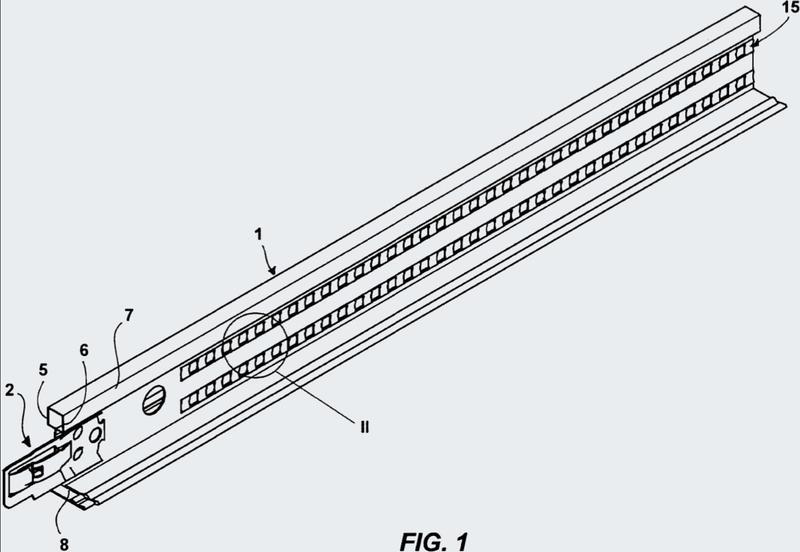 Barra de una estructura de soporte para un techo falso y proceso de trabajo para trabajar la barra.