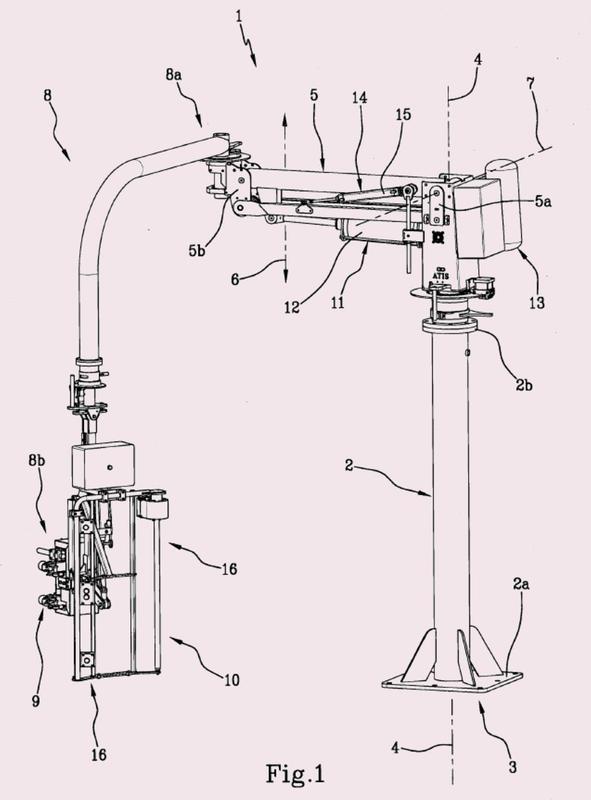 Dispositivo de manipulación para los objetos que se mueven en el espacio.