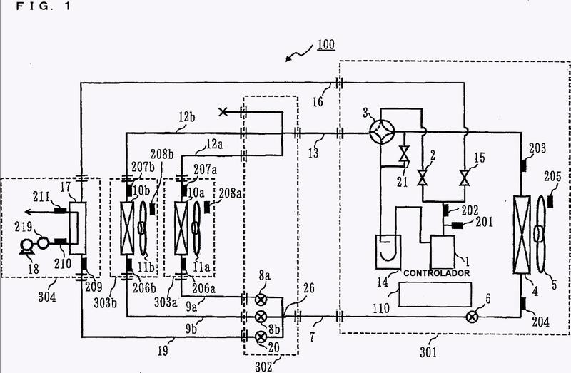 Dispositivo de ciclo de refrigeración y método de control de un ciclo de refrigeración.