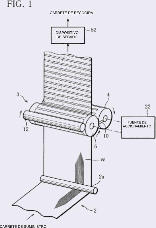 Máquina de fabricación y método de fabricación de banda continua recubierta.