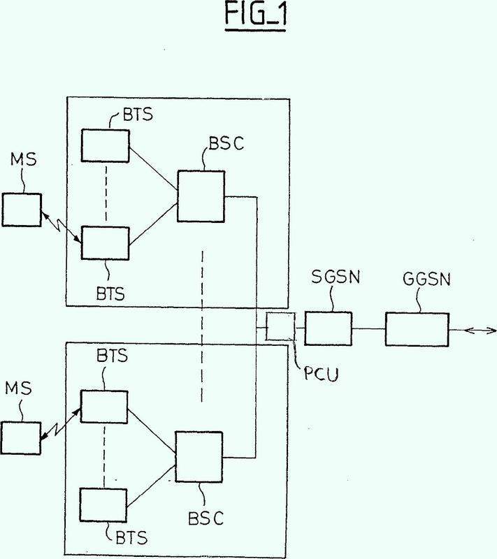 Procedimiento de tratamiento del procedimiento de servicios de localización en modo paquete en un sistema de radiocomunicaciones móviles.