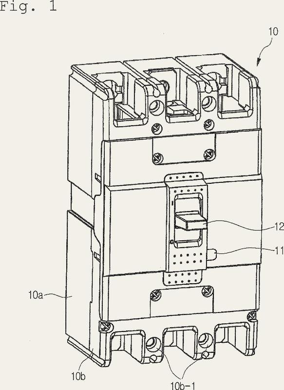 Mecanismo de botón de disparo de mando externo para disyuntor.