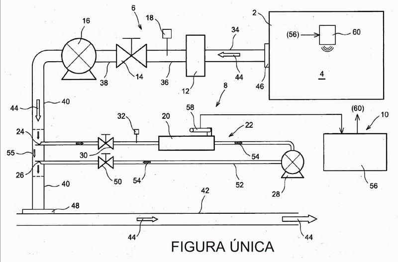 Sistema móvil de intervención en atmósfera de gas radioactivo, particularmente de tritio.