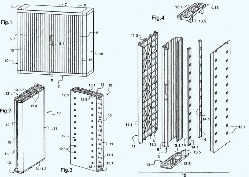 Mueble de colocación en orden con cortina(s) de cierre deformable(s).