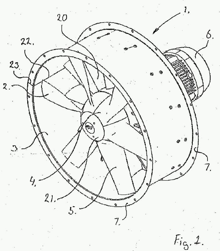 Un ventilador axial y un método de fabricación de un tubo de ventilación para el mismo.