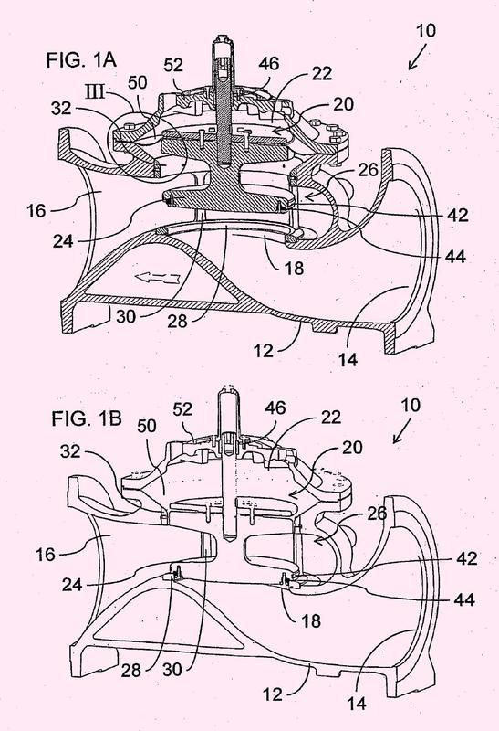 Válvula de control con un inserto integrado que proporciona un asiento de válvula y guías de tapón.
