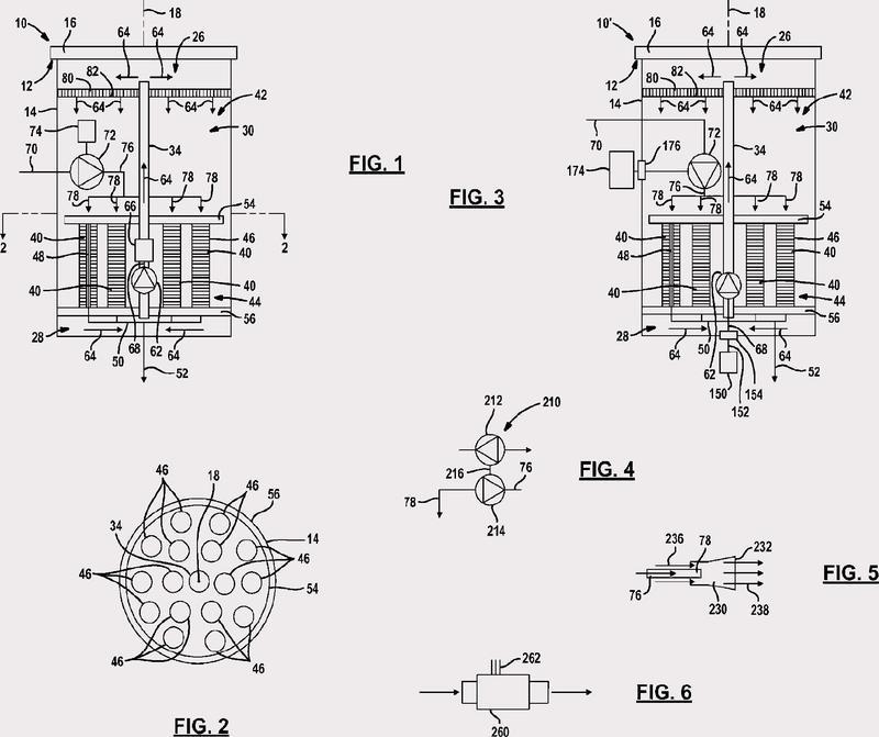 Sistema de osmosis inversa de funcionamiento discontinuo en proceso continuo con membranas internas, y circulación de concentrado.