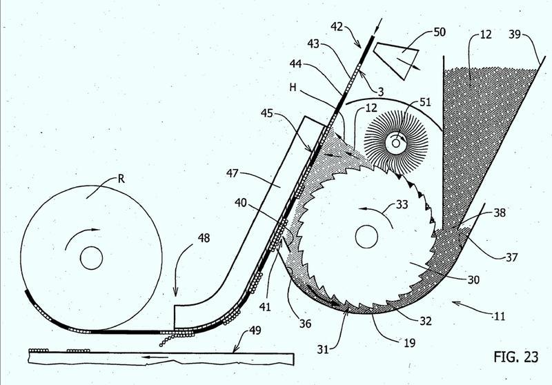 Procedimiento y aparato para la decoración con material en polvo.
