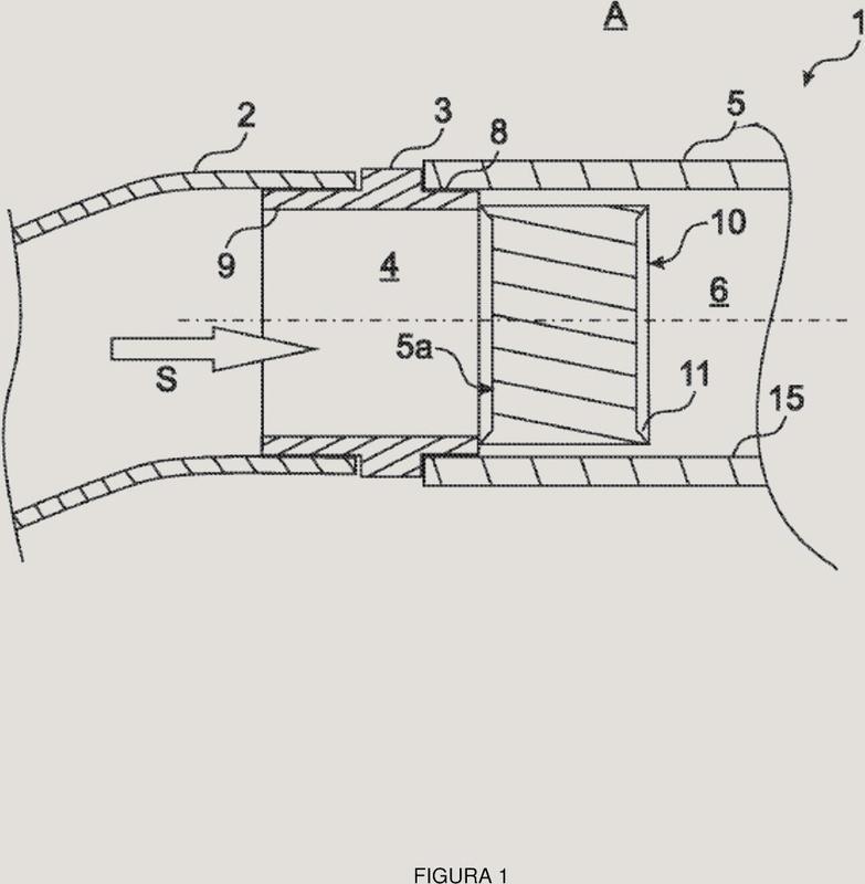 Dispositivo de conexión para acoplar una sección de un tubo flexible a una sección de un conducto.