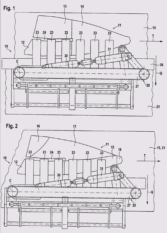 Dispositivo y procedimiento para separar partes de producto de productos cortados.