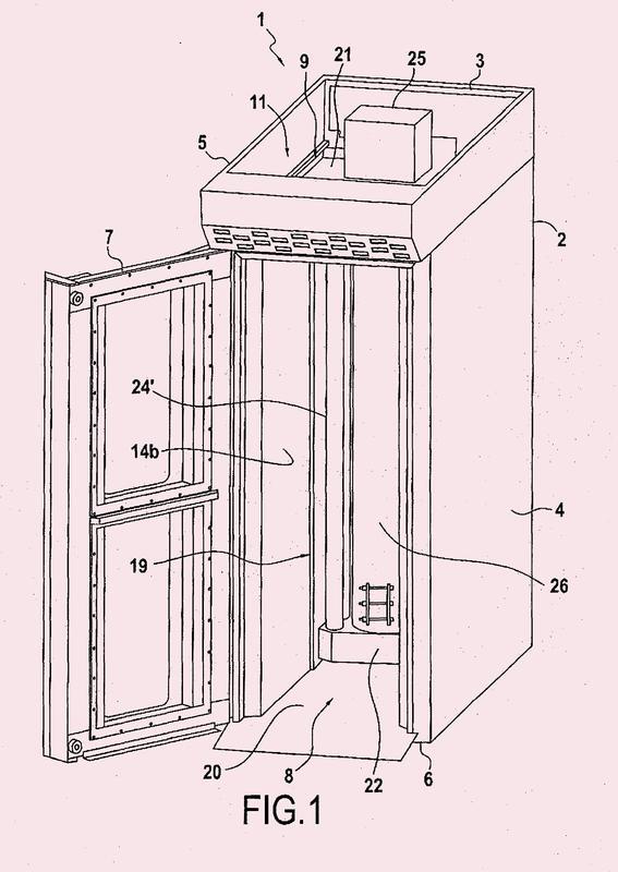 Horno de panadería-pastelería que comprende un recinto vertical; un intercambiador de combustión.
