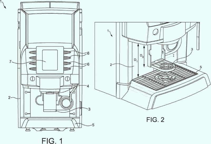 Distribuidor con sistema de sujeción para recipientes de diferentes tamaños.