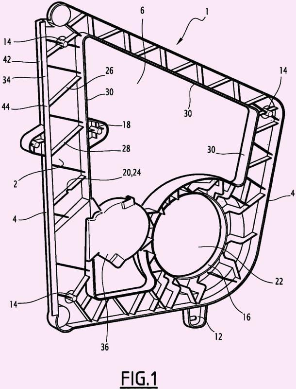 Módulo de puerta de vehículo automóvil que comprende un sistema eleva-lunas.