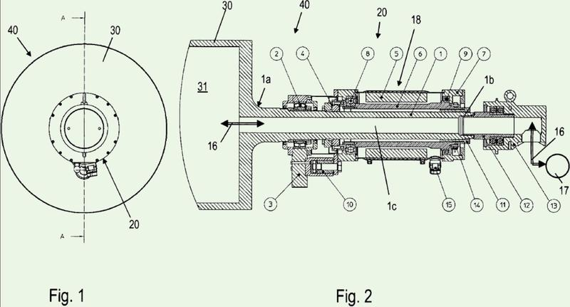 Accionamiento y sistema con al menos un cilindro o tornillo sin fin extrusor accionado.