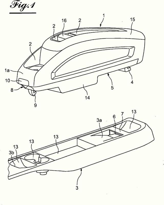 Consola extraíble para habitáculo de un vehículo automóvil.