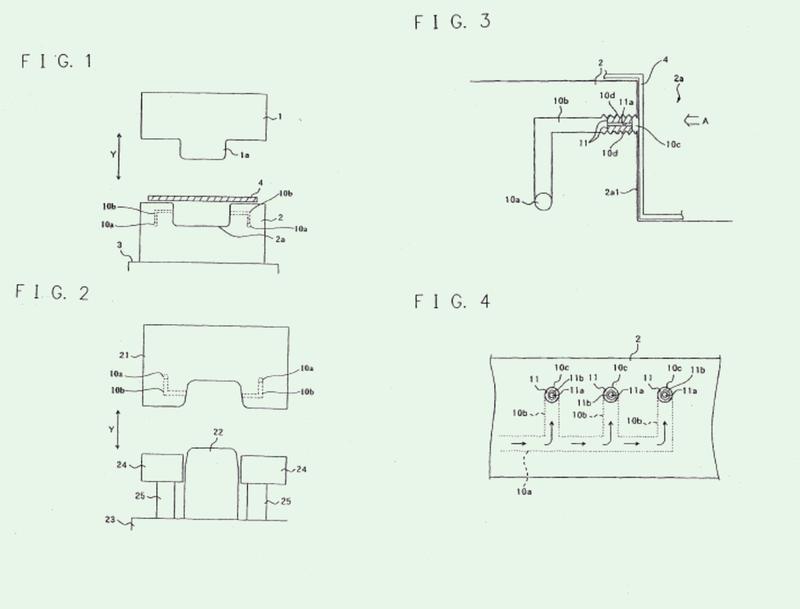 Matriz para estampación en caliente, aparato para estampación, y método de estampación en caliente.