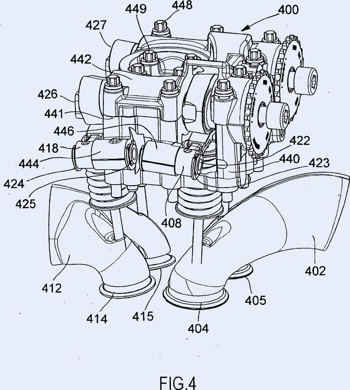 Motor de combustión interna con un cigüeñal y al menos una culata, así como vehículo automóvil con un motor de combustión interna de esta clase.