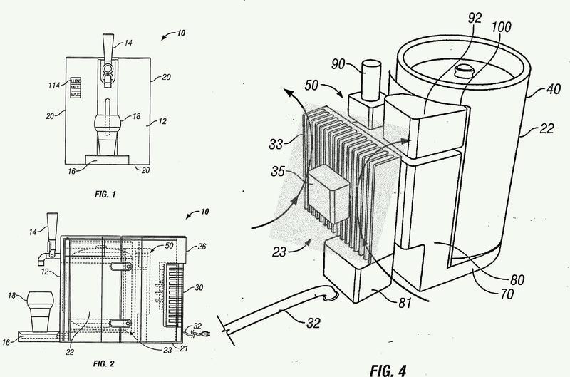 Sistema de suministro de cerveza con un depósito de presión de gas.