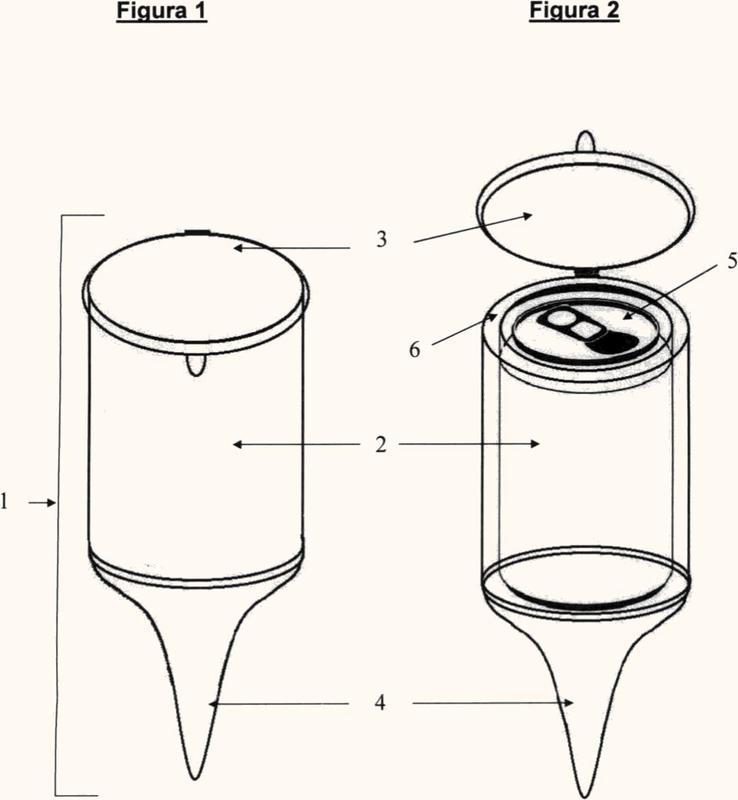 Recipiente portátil enfriador de envases de bebidas.