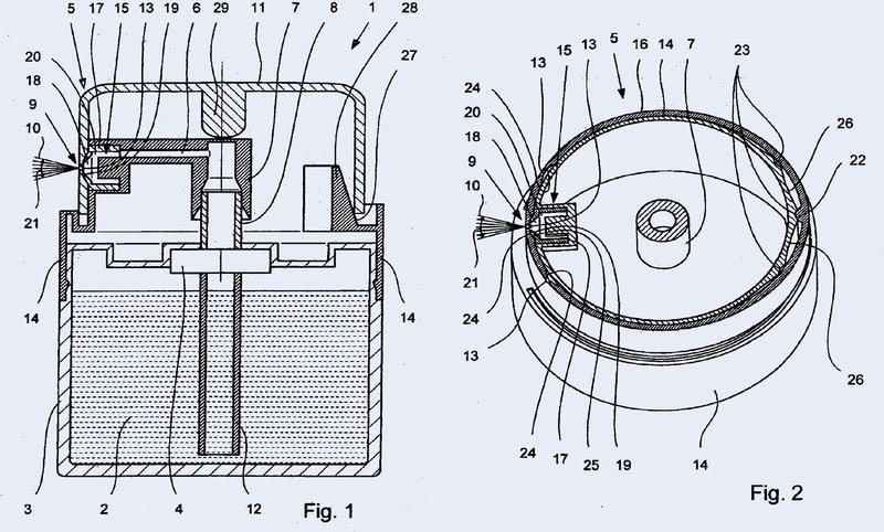 Cabeza de pulverización y dispositivo para la dispensación de un líquido.