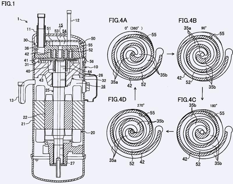 Compresor de espiral.