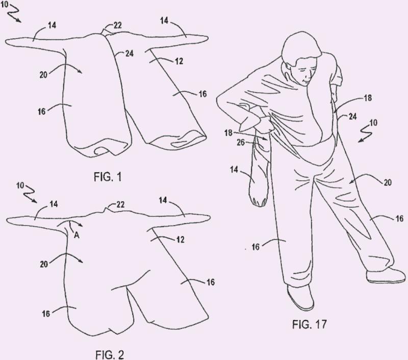 Empaquetado de prendas de vestir no contaminadas.