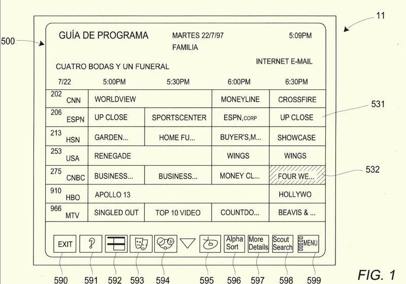 Sistema y método para hacer publicidad de un programa que se está emitiendo mediante el uso de una interfaz de guía electrónica de programas.