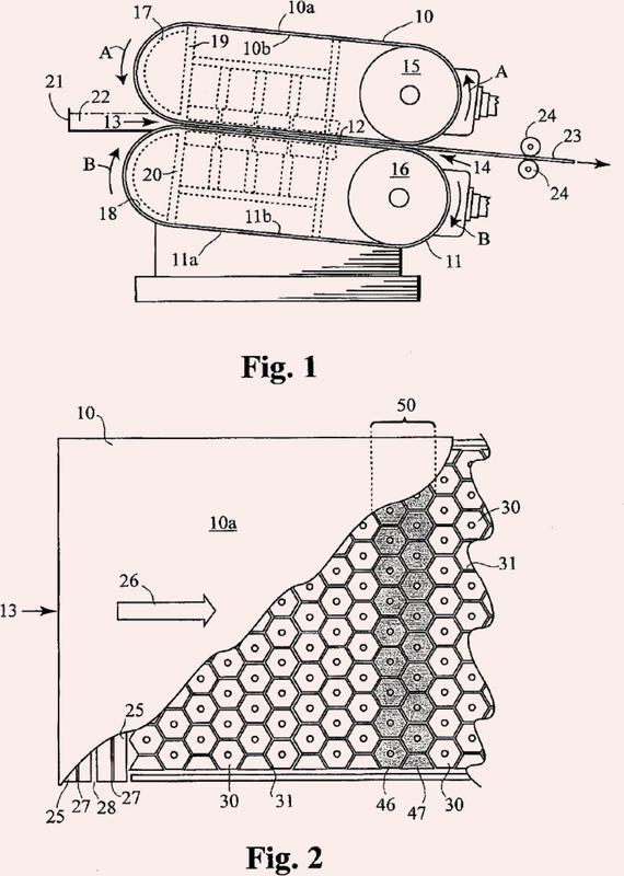 Método y aparato para la colada de una losa de metal.