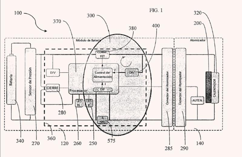 Disposición de control de calor para un artículo para fumar electrónico y sistema y método asociados.