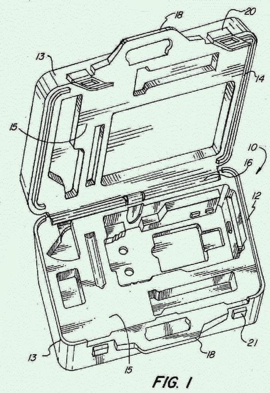 Kit de herramientas moldeado por soplado.