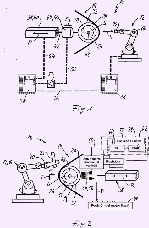 Procedimiento para el accionamiento de un dispositivo de rectificado con cinta.