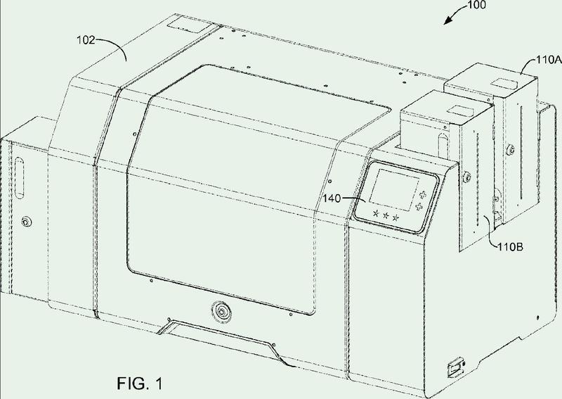Lanzadera de sustrato de dispositivo de producción de documentos de identidad.