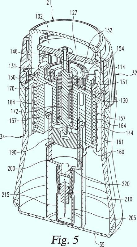 Conjunto de activación para un dispositivo de inyección automático.