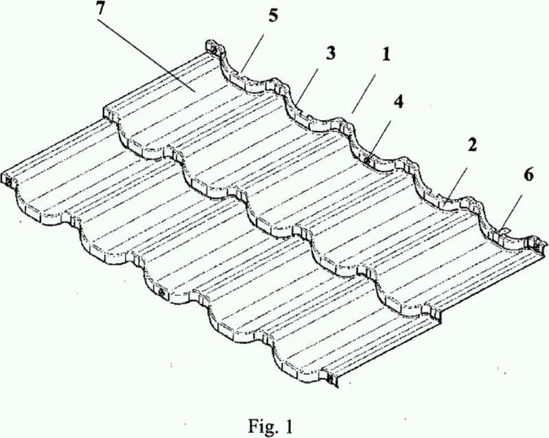 Elemento de cubierta de techo (lámina similar a baldosas) equipado con un soporte de ángulo.