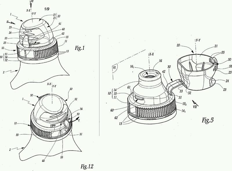 Dispositivo de tapón para el cuello de un recipiente.