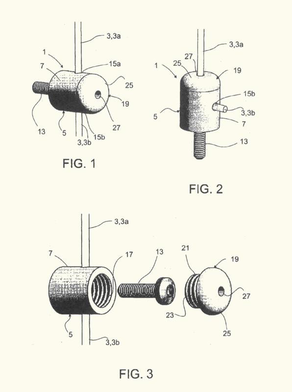Soporte de cuerda para la fijación de una cuerda en un elemento de anclaje.