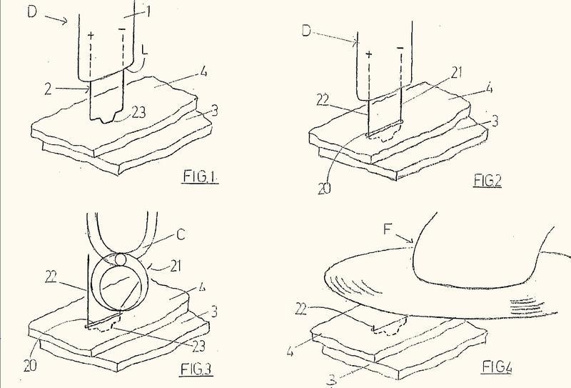 Método de reparación de un componente compuesto por un material de plástico.