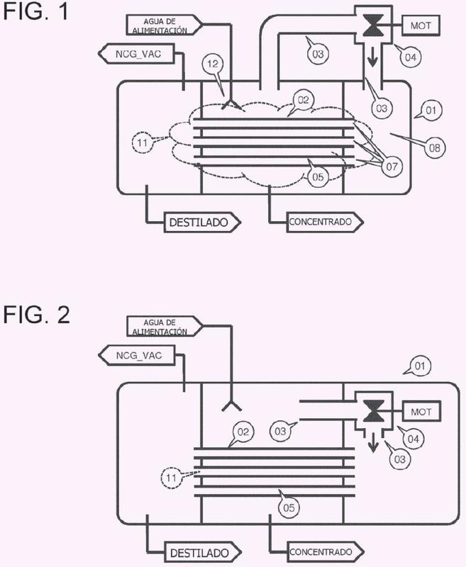 Métodos e instalaciones para destilación térmica con compresión mecánica de vapor.