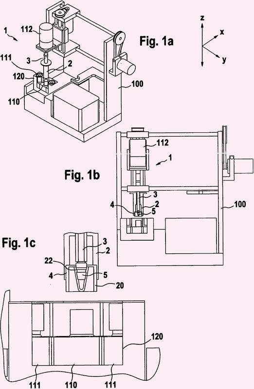 Sistema de apertura automática de recipientes de reactivos.